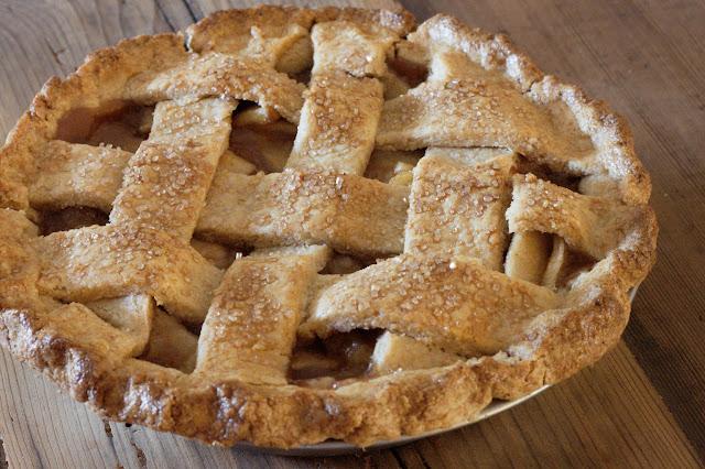 7-inch whole wheat apple pie