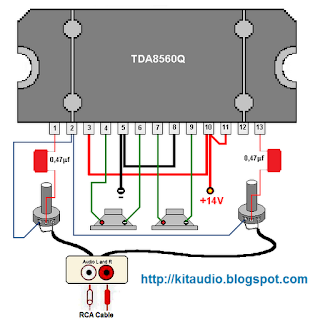 TDA8560Q 2× 40 W / 2 Ω stereo BTL power amplifier circuit