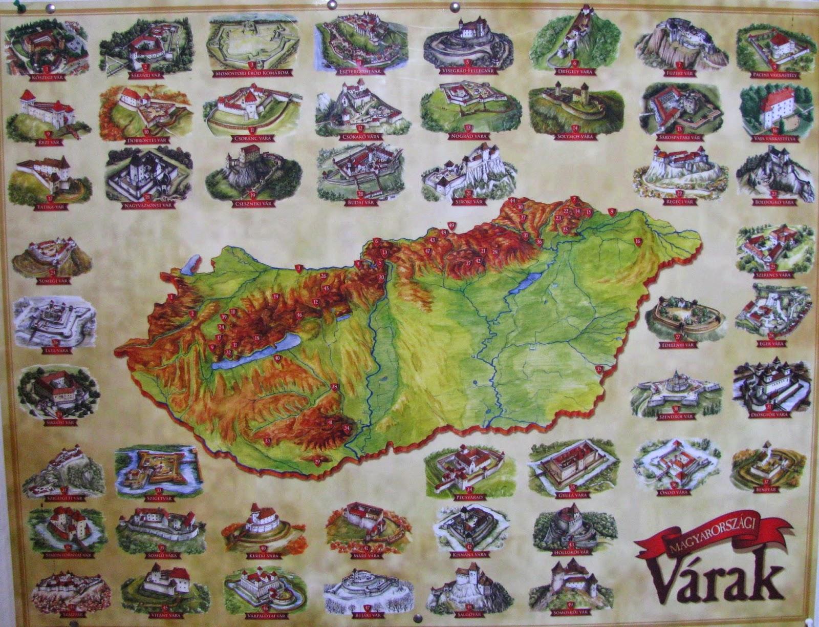 magyarország várai térkép Magyar Kaland: Magyarország ismert várai magyarország várai térkép