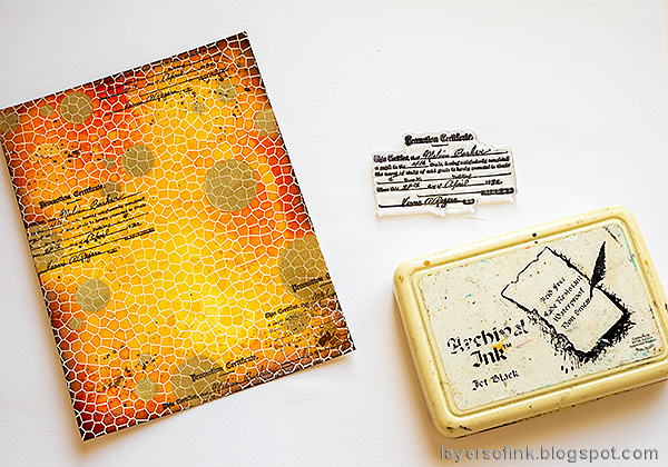 Layers of ink - Shiny Autumn Card Tutorial by Anna-Karin Evaldsson.