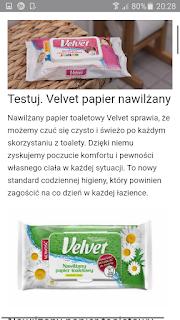 nawilzany papier toaletowy velvet pure