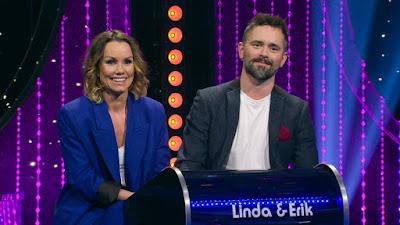 Linda Bengtzing och Erik Segerstedt i tävlingspodiet.