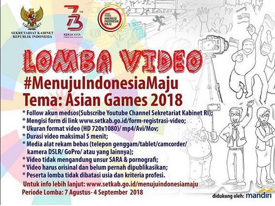 Ini Loh Pemenang Lomba Medsos #MenujuIndonesiaMaju bersama Sekretariat Kabinet 2018