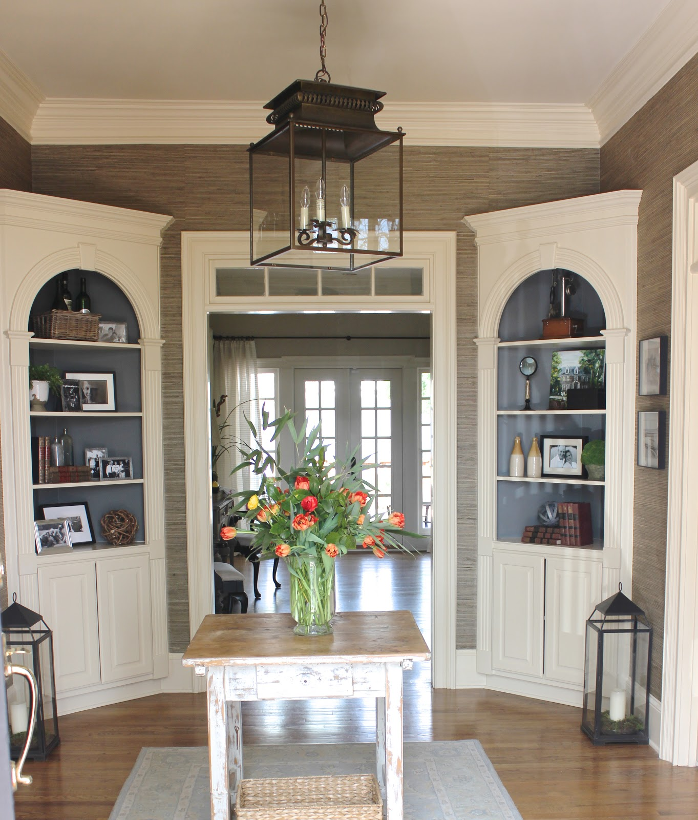 Corner Dining Room Cabinet: BEFORE AND AFTER OF THE FOYER