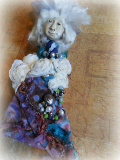 Grandmother's Wisdom a Miniature Folk Art Spirit Doll