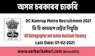 DC Kamrup Metro Recruitment 2021