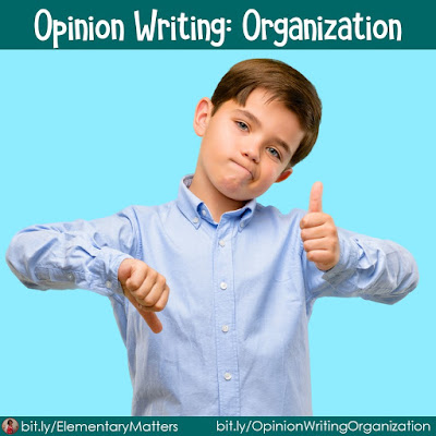 Opinion Writing Organization: Kids have plenty of opinions! This blog post suggests a few ways to help children share their opinions with evidence. Plus, it has an organizational freebie!