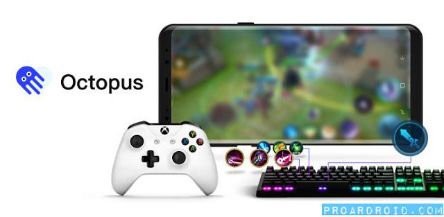 تطبيق Octopus للعب ألعاب باستخدام الكنترول وكيبورد للاندرويد