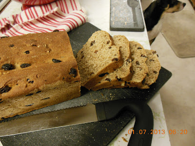 Whole Wheat Raisin Walnut Bread