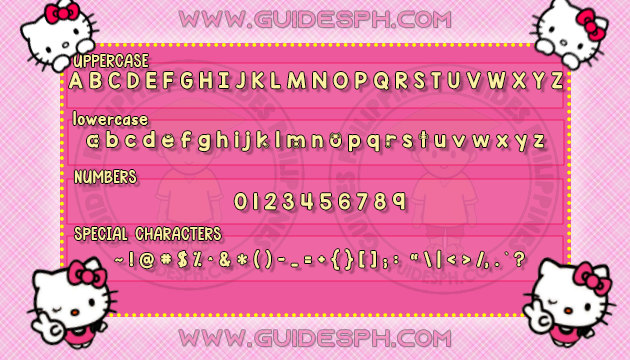 Mobile Font: Simple Cutie Font TTF, ITZ, and APK Format