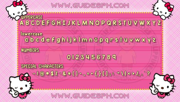 Mobile Font: Simple Cutie Font TTF, ITZ, and APK Format