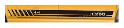 Adesivo lateral tuning para mitsubisho l200 lançamento 2016 2017