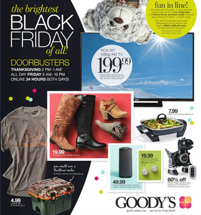 Goody's Black Friday 2017 Ad
