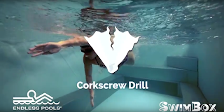 The Corkscrew swimming drill from the Endless Pool at SwimBox in Fairfax Virginia
