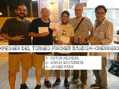 Fischer random Chessngo.es 9/10, gana Víctor Penadés (crónica por Toni Miñana)