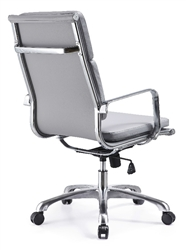 Hendrix Gray Office Chair - Back View