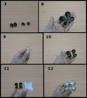 Gambar tutorial cara membuat kanzashi kupu-kupu sederhana 2