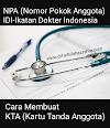 POST Internship : Mengurus KTA (Kartu Tanda Anggota) dan mendapatkan NPA (Nomor Pokok Anggota)  IDI (Ikatan Dokter Indonesia), Bagaimanakah caranya ?