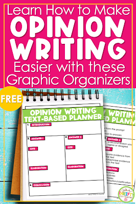 Looking for an effective way to teach students how to plan a well written opinion essay? Check out these 5 steps & opinion writing graphic organizer.
