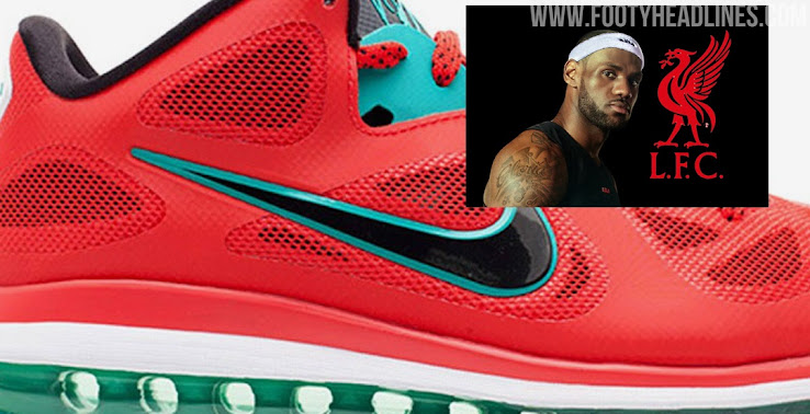 Leaked Nike To Release Lebron 9 Liverpool Shoe Inspired By 20 21 Kit Footy Headlines