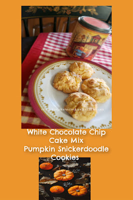 Cake Mix White Chocolate Chip Snickerdoodle Cookies
