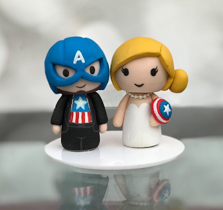 Cute and Romantic Avengers Wedding Cake Toppers