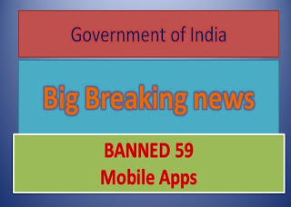 govt of india Banned 59 mobile apps