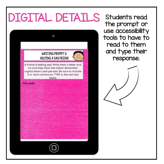 example of digital SEL writing prompt
