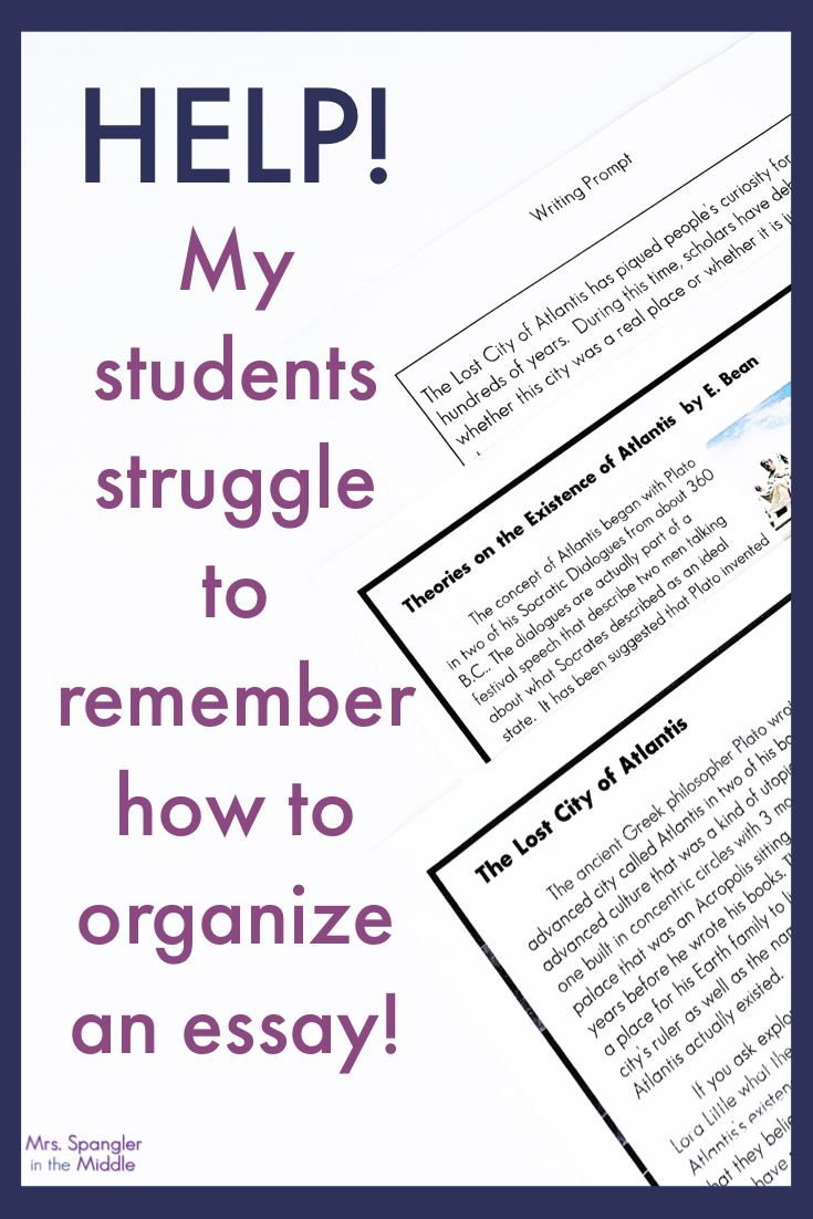 Essay Writing Organization Hack for Middle School - Mrs. Spangler