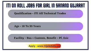 ITI On Roll Jobs For Girl In Sanand Gujarat