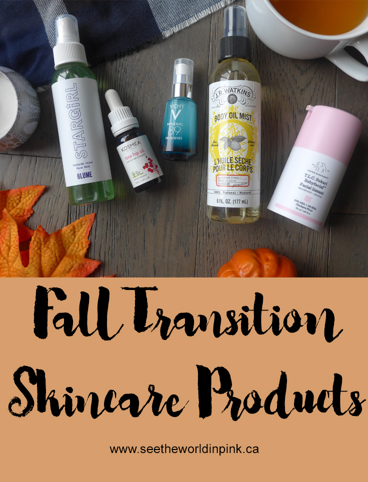 My Fall Transition Skincare Products