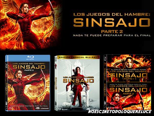 A la venta 'Los juegos del hambre: Sinsajo - Parte 2' en DVD, Blu-ray y edición 2 especial