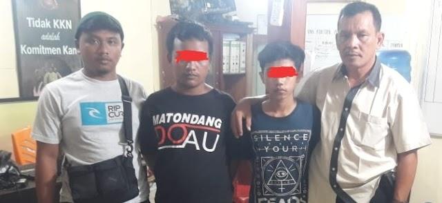 Polsek Panyabungan Amankan Dua Orang Pelaku Tindak Pidana Perjudian Jenis Kim