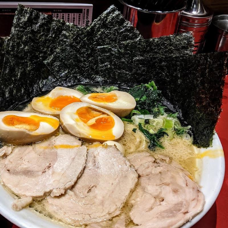 海苔特色造型的橫濱系大和家拉麵