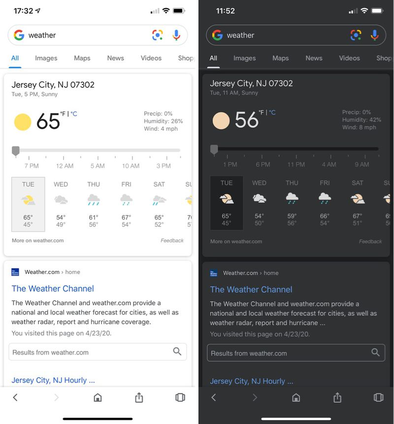 Google 支援 iPhone 深色模式!果粉獨享暗黑搜尋