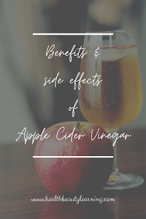 benefits and side effects of apple cider vinegar
