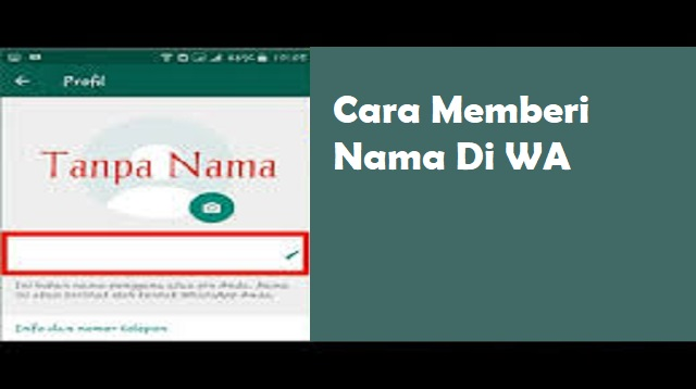 Cara Memberi Nama di WhatsApp