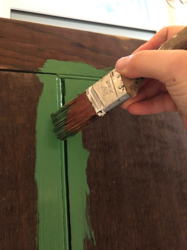 painting reclaimed wood headboard