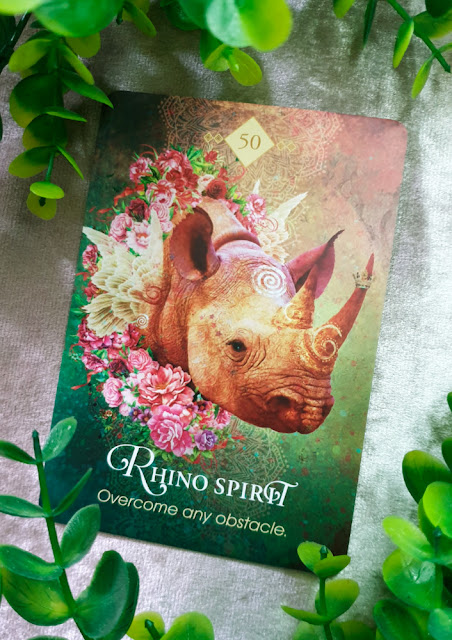 The Spirit Animal Oracle - Rhino Spirit card