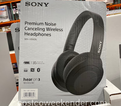 Enjoy listening to your favorite songs with the Sony WH-H910N Noise Cancelling Headphones