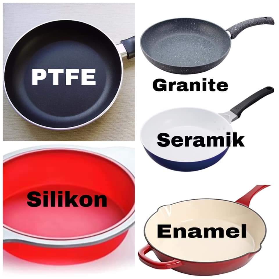 cara menjaga kuali periuk non stick cookware