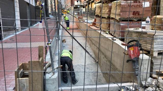 Obras de las rampas de la calle Rontegi