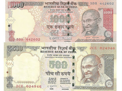 Old 500 Rs and 1000 Rs Notes