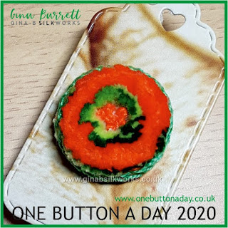 One Button a Day 2020 by Gina Barrett Day 29: Garland