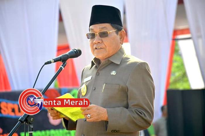 Peringati HUT ke 73 Bayangkara, Plt Bupati Mesuji Jadi Inspektur Upacara