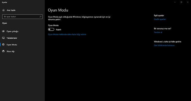 Windows 10 oyun modu, oyun performansını kötü etkiliyor