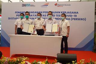 RNI Dan KAI Bekerjasama Untuk Menyediakan Fasilitas Rapid Test Di 12 Stasiun Dengan Harga Rp 85 Ribu