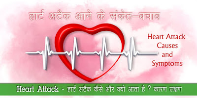 हार्ट अटैक के लक्षण Heart Attack Causes Symptoms in Hindi