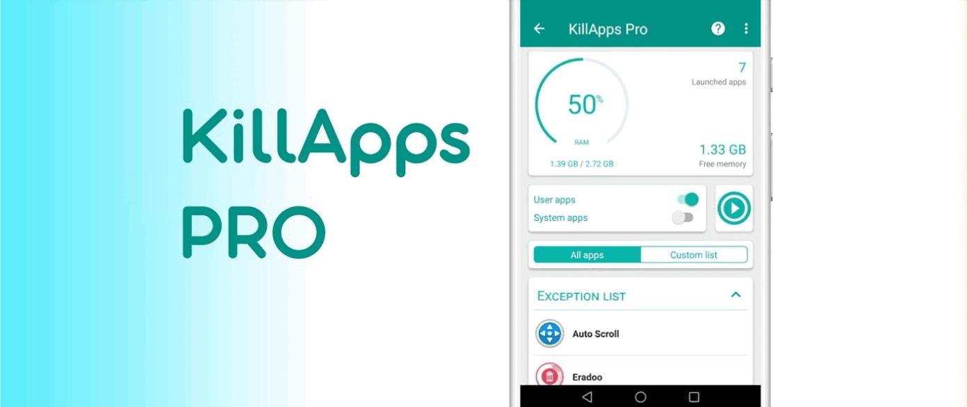 KillApps: أغلق جميع التطبيقات التي تعمل في الخلفية