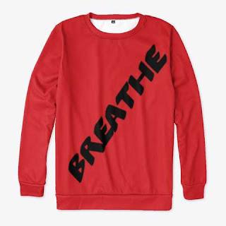 Breathe All-over Print Sweatshirt Red